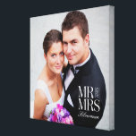 "Mr and Mrs Custom Photo Canvas<br><div class=""desc"">Upload your photo to create a one-of-a-kind gift for yourself or someone else! See our complete collections at berryberrysweet.com. Custom colors also available upon request. Design &#169; berryberrysweet.com</div>"