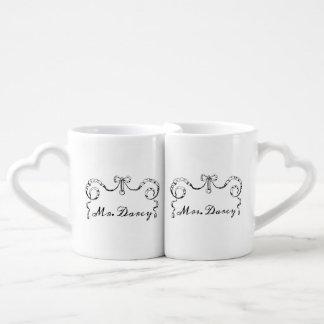 Mr. and Mrs. Darcy Couples' Coffee Mug Set