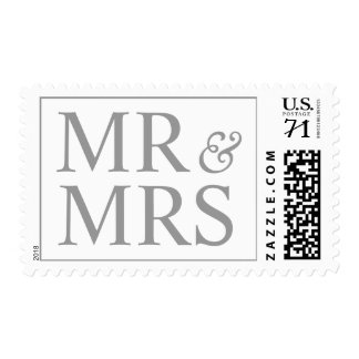 Mr and Mrs Design Oversize Bridal  Alloy Postage
