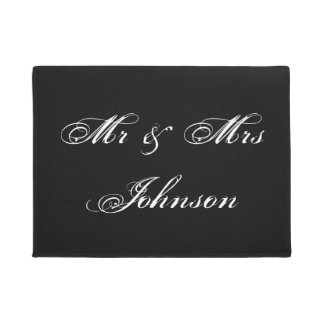 Mr and Mrs door mat for newly weds wedding couple