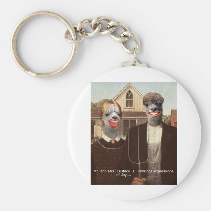 Mr and Mrs Eustace B. Hawkings Expressions of joy Keychain