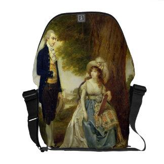 Mr and Mrs Fraser, c.1785-90 (oil on canvas) Messenger Bag