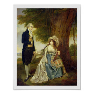 Mr and Mrs Fraser, c.1785-90 (oil on canvas) Poster