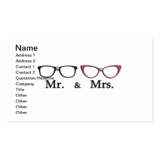 Mr. And Mrs. Geek Double-Sided Standard Business Cards (Pack Of 100)