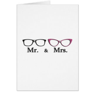 Mr. And Mrs. Geek Greeting Card