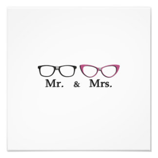 Mr. And Mrs. Geek Photographic Print