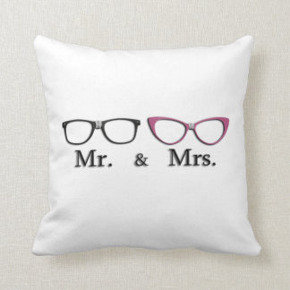Mr. And Mrs. Geek Throw Pillow