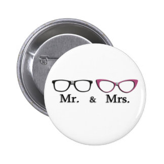 Mr. And Mrs. Geek Pinback Button