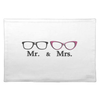 Mr. And Mrs. Geek Cloth Placemat