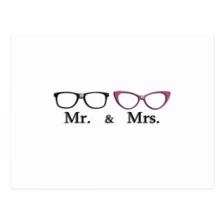 Mr. And Mrs. Geek Postcard