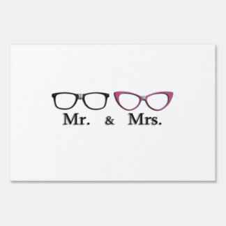 Mr. And Mrs. Geek Yard Sign