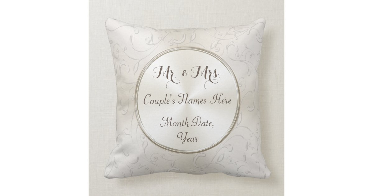 Mr Mrs Wedding Gifts: Mr And Mrs Gift Ideas, Personalized Wedding Pillow