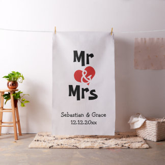 Mr and Mrs Heart Custom wedding Photo Backdrop