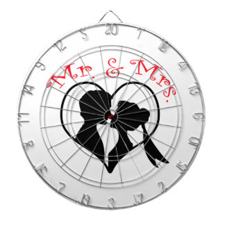 Mr And Mrs Heart Dartboards