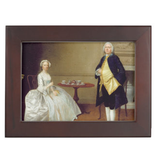 Mr and Mrs Hill, c.1750-51 (oil on canvas) Keepsake Box