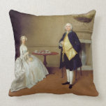 Mr and Mrs Hill, c.1750-51 (oil on canvas) Throw Pillow