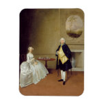 Mr and Mrs Hill, c.1750-51 (oil on canvas) Vinyl Magnet
