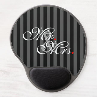 Mr. and Mrs. Husband Wife His Hers Newly Weds Gel Mouse Pad