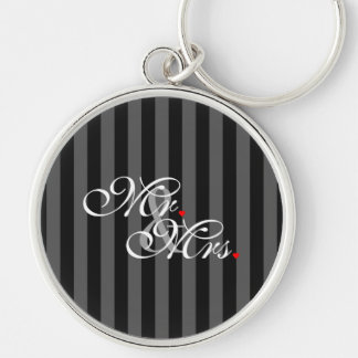 Mr. and Mrs. Husband Wife His Hers Newly Weds Keychain