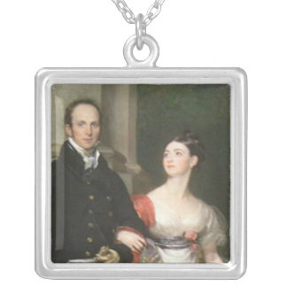 Mr and Mrs James Dunlop Silver Plated Necklace
