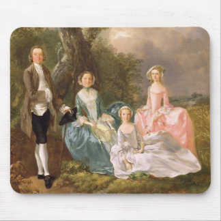Mr and Mrs John Gravenor and their Daughters, Eliz Mouse Pad
