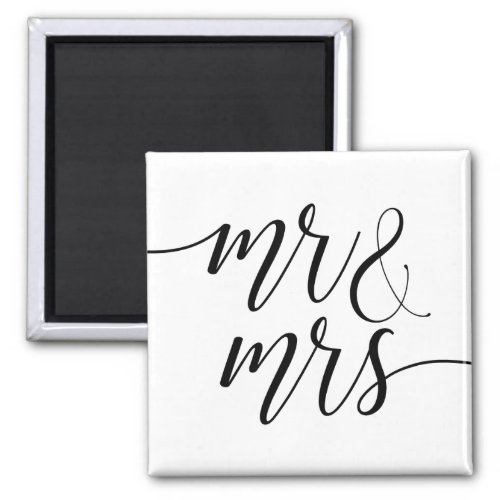Mr And Mrs Just Married Magnet
