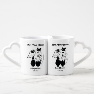 Mr and Mrs Just Married Personalized Mug Set