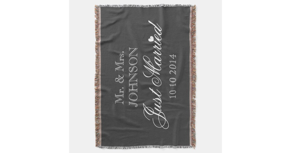 Mr And Mrs Just Married Throw Blanket For Newlywed Zazzle