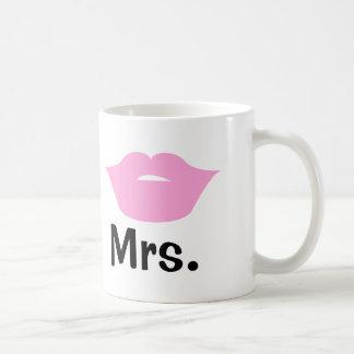Mr And Mrs Lips And Mustache Wedding Coffee Mug