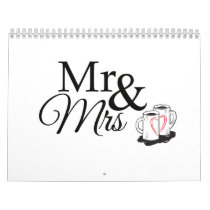 Mr. and Mrs. Love 12 Month Wall Calendar