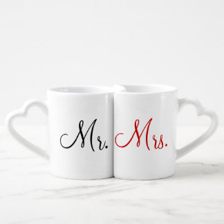 Mr. and Mrs. Lovers' Mug Set Couples' Coffee Mug Set