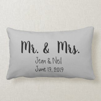Mr. and Mrs. lumbar pillow