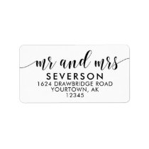 Mr and Mrs Mailing Address Labels