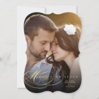 Mr And Mrs Merrily Ever After Holiday Photo Card