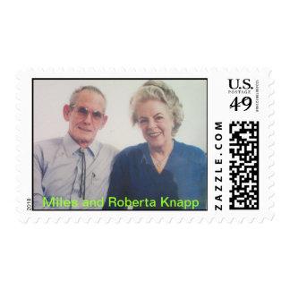 Mr and Mrs Miles & Roberta Knapp Postage
