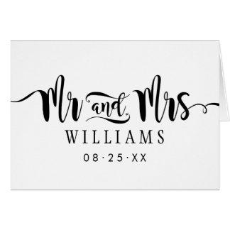 Mr and Mrs Monogram | Wedding Thank You Card