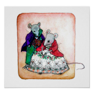 Mr and Mrs Mouse Poster