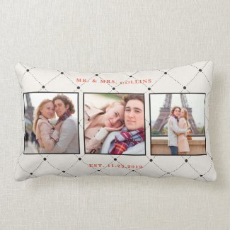 Mr. and Mrs. Multi Photo Pillow