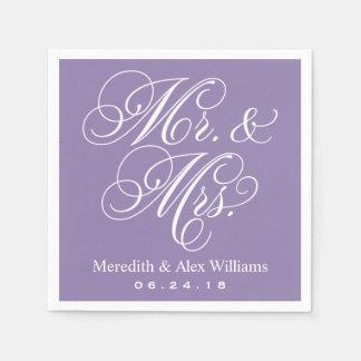 Mr. and Mrs. Napkins | Amethyst Purple