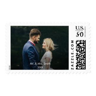 Mr and Mrs | Newlywed Custom  Holiday Photo Postage