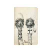 Mr. and Mrs. Ostrich 2015 2016  calendar Journal
