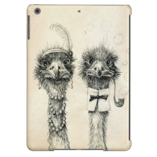 Mr. and Mrs. Ostrich iPad Air Cover