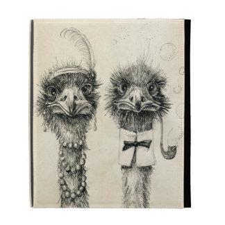 Mr. and Mrs. Ostrich iPad Folio Cover