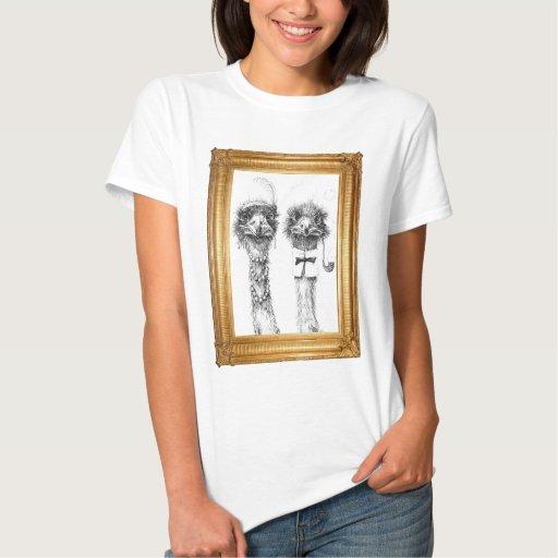Mr. and Mrs. Ostrich -framed T-shirt