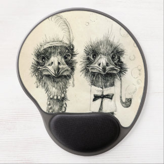 Mr. and Mrs. Ostrich Gel Mouse Pad