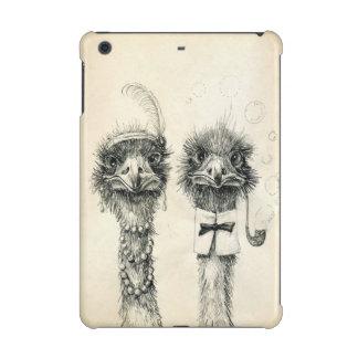 Mr. and Mrs. Ostrich iPad Mini Covers
