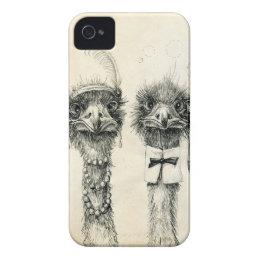 Mr. and Mrs. Ostrich iPhone 4 Case