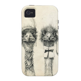 Mr. and Mrs. Ostrich iPhone 4 Covers