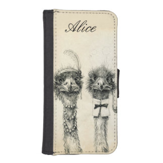 Mr. and Mrs. Ostrich iPhone SE/5/5s Wallet