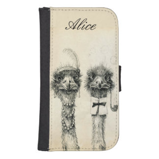 Mr. and Mrs. Ostrich Samsung S4 Wallet Case